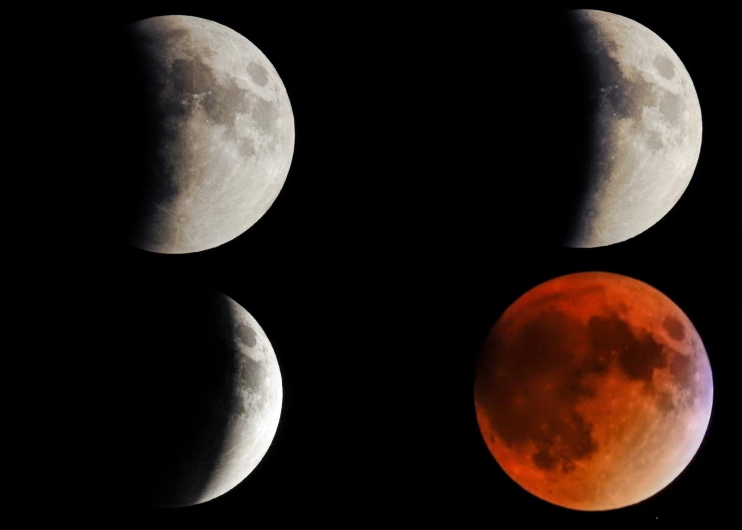 Blood Moon eclipse. Kennebunk Maine
