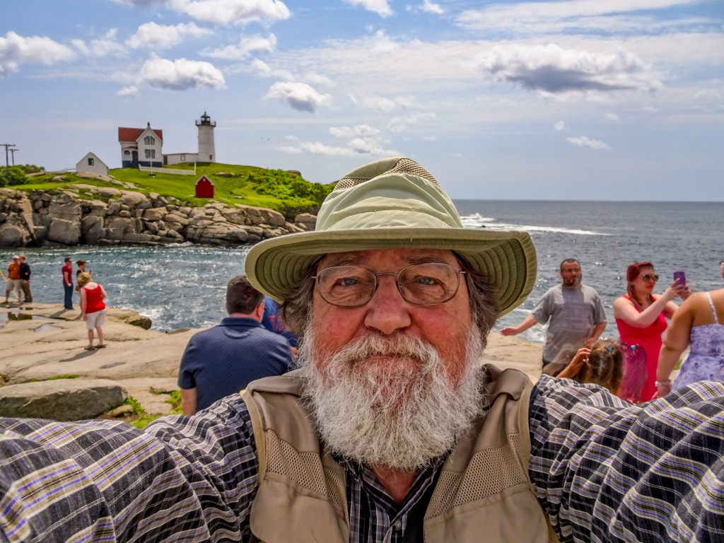 Me at Nubble Light, in Maine